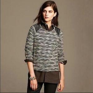 Banana Republic Sweaters - 🛒 Banana Republic Tweed Black Gray Sweater Medium
